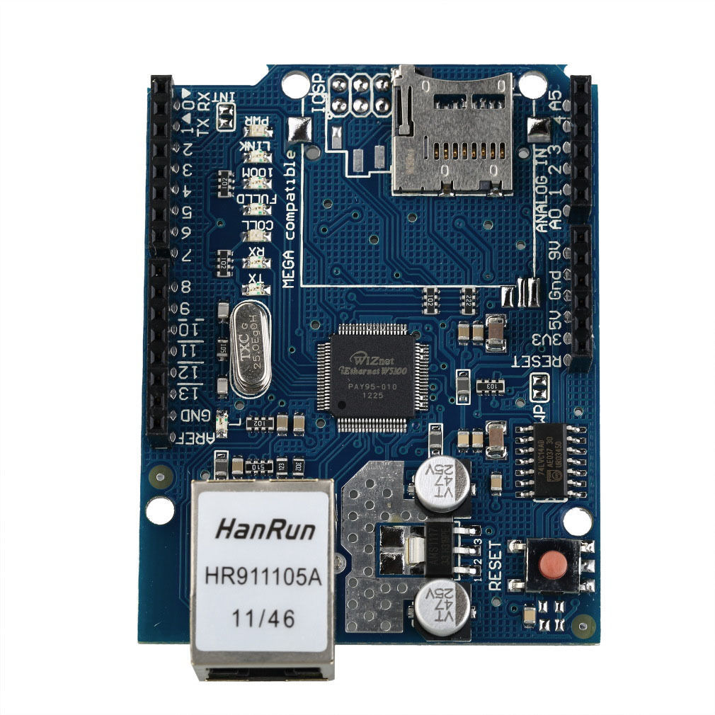 Ethernet Shield W5100 Micro-SD Card Slot