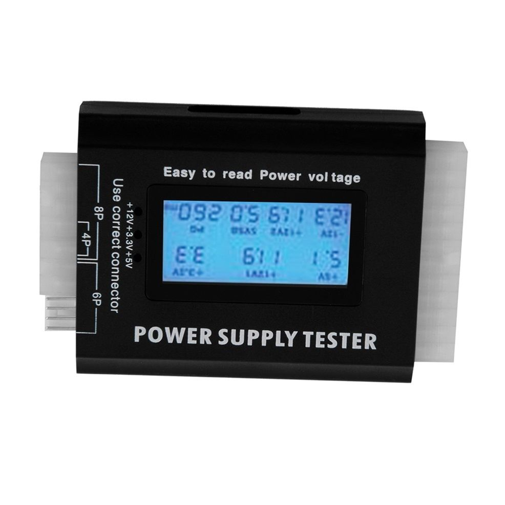 LCD digital tester for computer power supplies